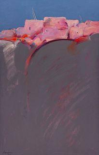 Dan Namingha (Hopi/Tewa, b. 1950) Village Edge, 1984