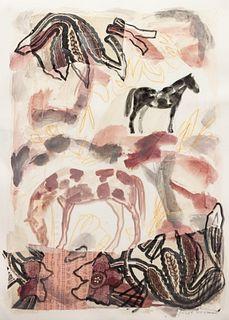 Jaune Quick-to-See Smith (French-Cree/Shoshone/Salish, b. 1940) Cheyenne Series No. 54