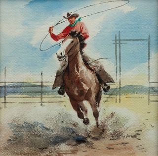 Stanley M. Long (American, 1892-1972) Roping