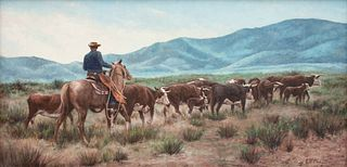 Kenneth Freeman (American, 1935-2008) Driving the Herd