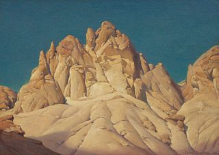 Clyde Forsythe (American, 1885-1962) Golden Canyon, Death Valley, 1950