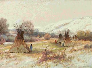 Joseph Henry Sharp(American, 1859-1953)Wind River Country