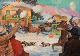 Stanley Arthurs (American, 1877-1950) Frontier Christmas