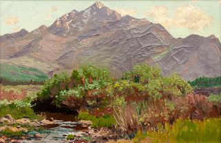 Charles Partridge Adams  (American, 1858-1942) Mountain Landscape