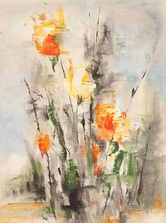 Charles Bunnell (American, 1897-1968) Abstract Floral Still Life