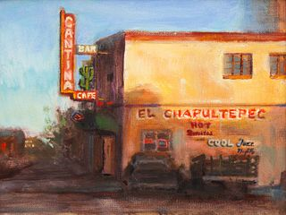 Kim Reasor (American, 20th Century) Late Afternoon El Chaputtepec