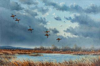 Jerry Thrasher  (American, b. 1940) Wild Geese