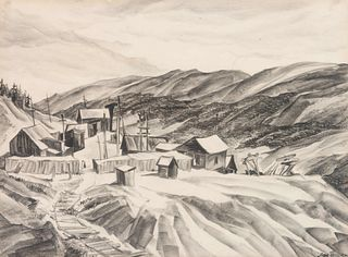 Muriel Sibell Wolle (American, 1898-1977) Waldorf Mine, Near Argentine Pass, Colorado, 1942