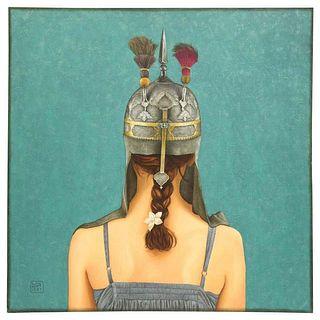"Morteza Pourhosseini ""The Circus 5"" Oil and Acrylic on Canvas 2013"