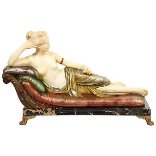 Exceptional Italian Sculpture of Paulina Bonaparte Borghese after Anotino Canova