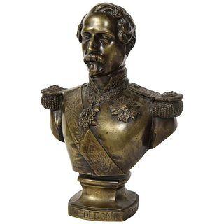 Exceptional Quality Bronze Bust of Emperor Napoleon III, circa 1870 C. 1870