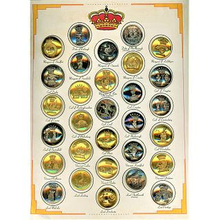 One Large Card Of Livery Crest Buttons