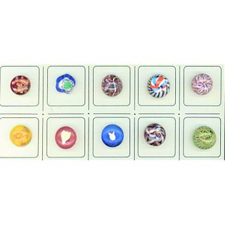 Small Card Of Paperweight Buttons