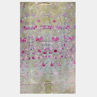 Large tapestry, throw, wrap, shawl: Green, pink, floral