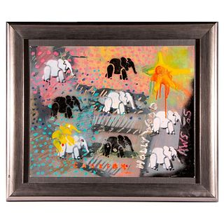 Framed and decorative stencil art