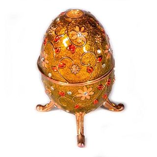 Decorative replica of a Russian enameled egg