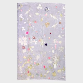 Large tapestry, throw, wrap, shawl: Lavender, pink, white, wild floral