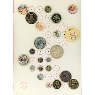 A Card Of Assorted Material Div 1 & 3 Picture Buttons