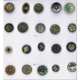 A Small Card Of Division 1 Celluloid Buttons