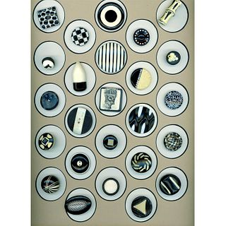 A Full Card Of Assorted Celluloid Buttons