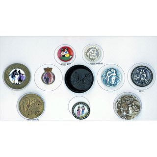 A Small Card Of Assorted Material Couples Buttons