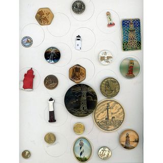 A Card Of Assorted Material Architectural  Buttons