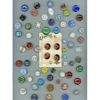 A Large Card Of Div 3 Moonglow Buttons