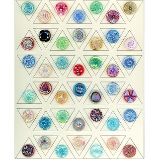 Card Of 1940'S West German Aurora Lustre Glass Buttons