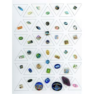 A Card Of Popper Glass Buttons