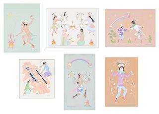 Harrison Begay (6) Works on Illustration Board