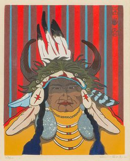 Kevin Red Star Native American Man with Headdress