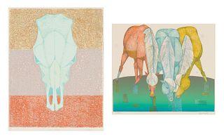 Lew Davis (2) Desert Phenomena & Three Horses, 1978-79