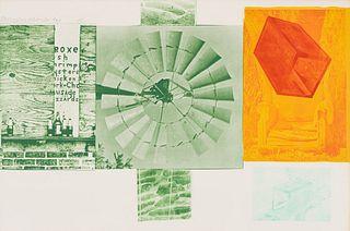 Robert Rauschenberg Glacial Decoy Series: Lithograph I, 1979