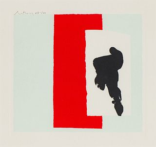 Robert Motherwell The Berggruen Series: Plate I (Belknap 225), 1979-80