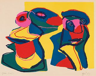 Karel Appel Untitled (Two Figures), 1969