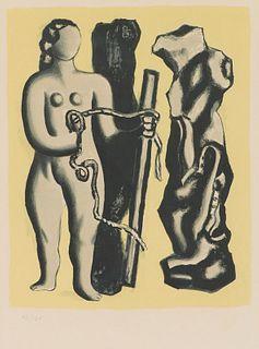 Fernand Léger Femme Sur Fond Jaune (S. 118), 1952