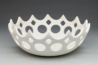 Pierced White Crown Bowl