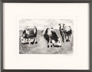CAROLYN LETVIN, Three Cows #2