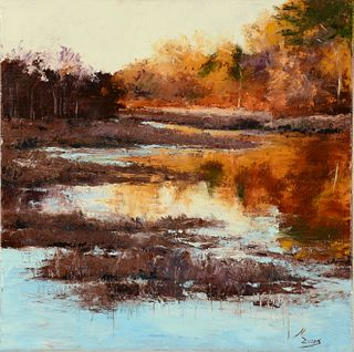 MICHAEL EVANS, Autumn Marsh, Wheaton Farm, Easton, MA