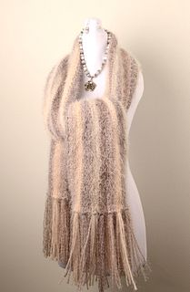 LISA HIRSBRUNNER, Hand-knit Shawl, Handmade Necklace & Earrings Set