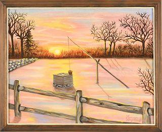 MARIAN WRIGHTINGTON, Peaceful Sunset