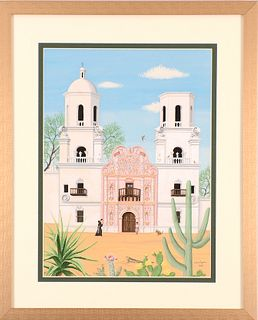 BARBARA CORRIGAN, The Mission San Xavier del Bac, Tucson, AZ
