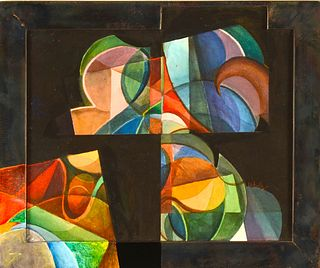 MARK WHOLEY, Composition with Steel Frame