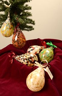 JOHN & JENNIE ELIAS (ELIAS STUDIOS), Teardrop Ornaments