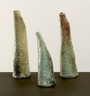 LAURA WHITE CARPENTER, Dragon Scale Vases