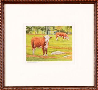 LAURIE LYNN LAWTON, Cows #2