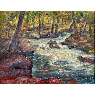 John A. Dominique, Along Matilija Creek, 1968