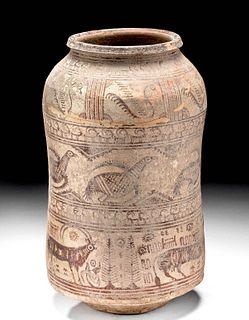 Indus Valley Polychrome Jar w/ Animals