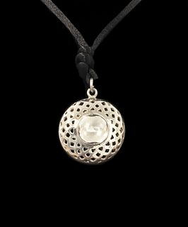 UNKNOWN, Sun Pendant with Cord Necklace and Octagonal Keepsake Stone Box