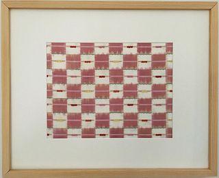 Chie Hitchner Framed Double-Ikat Silk Textile
